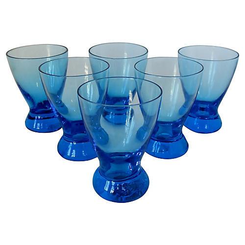 Italian Glass Cordials, S/6