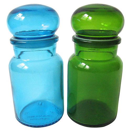 Belgian Apothecary Jars, Set of 2