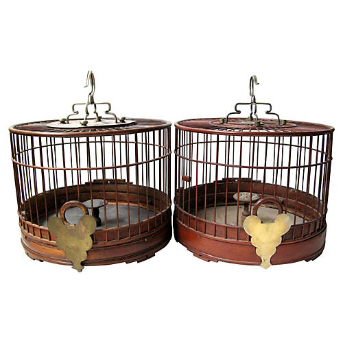 Qing Dynasty Birdcages, Pair