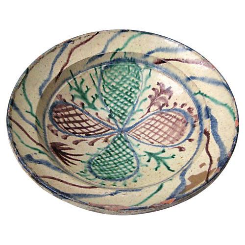 Antique Rustic Provençal Bowl