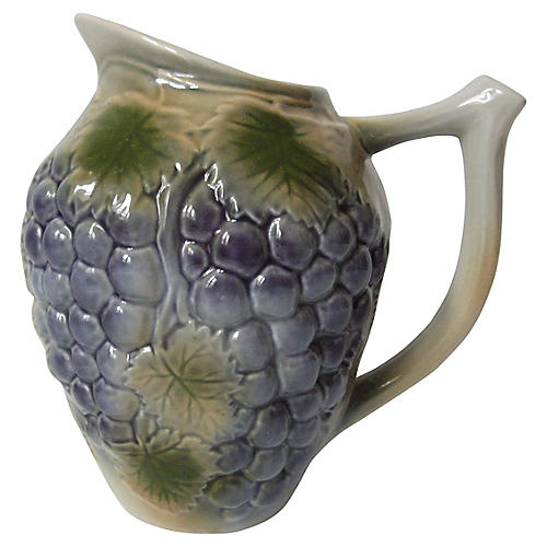 French Grapes Pitcher
