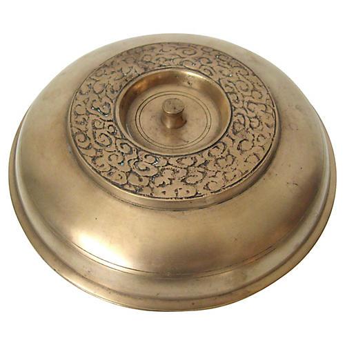 Korean Bronze Lidded Bowl