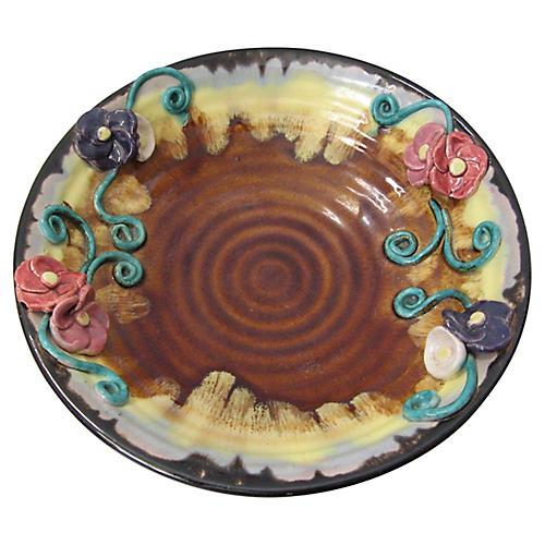 American Majolica Bowl