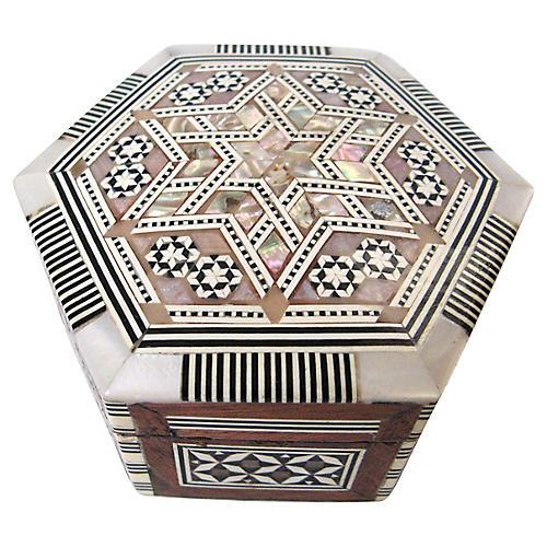 Hexagonal Inlay Box