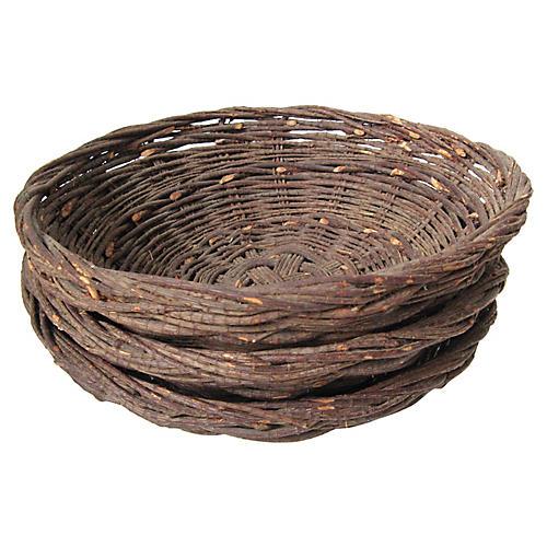 Grapevine Bowls, S/3