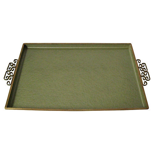 Olive Green Kyes Tray