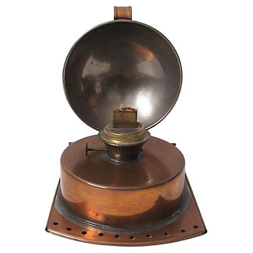 Copper Reflector Oil Lamp