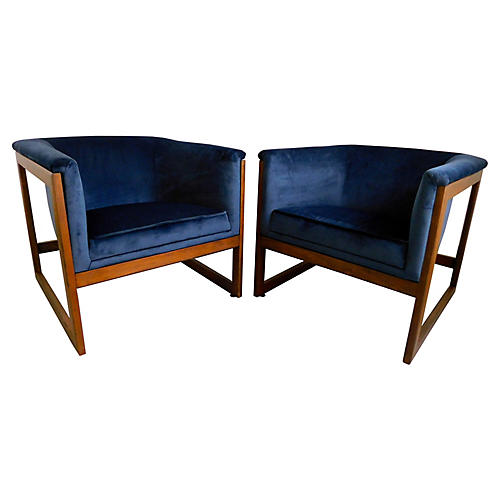 Baughman Floating Cube Chairs, S/2
