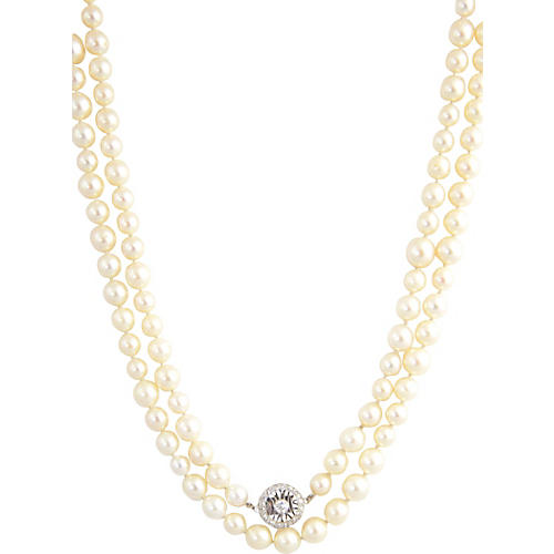 Diamond & Culture Pearls Necklace