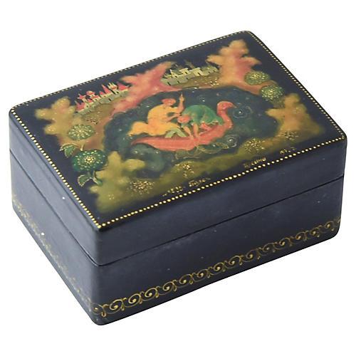 Fisherman Fairy Tale Lacquer Box