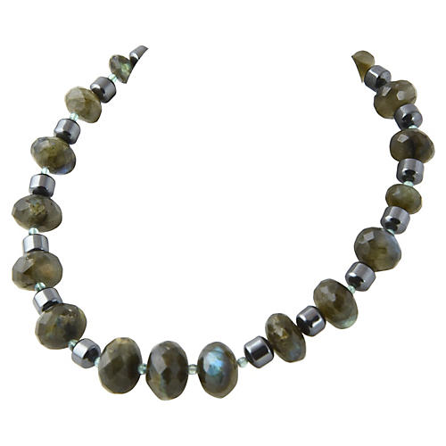 Faceted Labradorite & Hematite Necklace