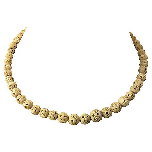 Carved Nut Necklace