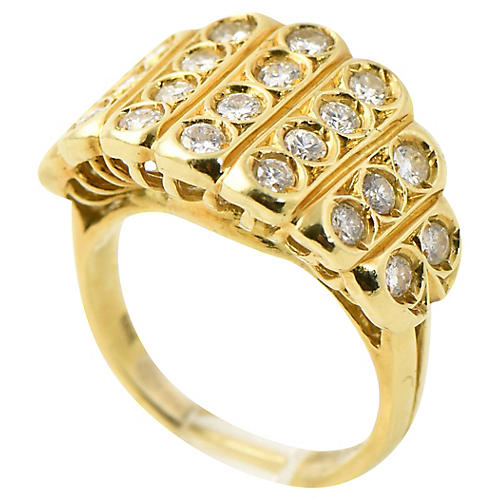 Diamond & 18K Gold Statement Ring