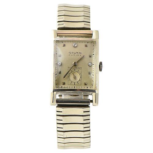 Gruen Curvex Gold Watch