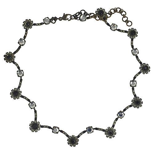 Sorrelli Black & White Floral Necklace