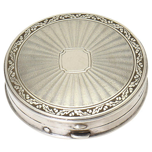 Sterling Silver Stylized Compact