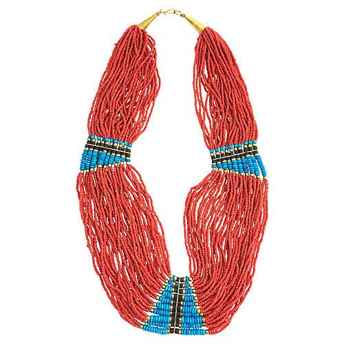 Multi-Strand Beaded Necklace