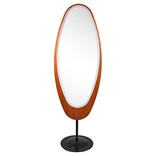Midcentury Italian Standing Floor Mirror