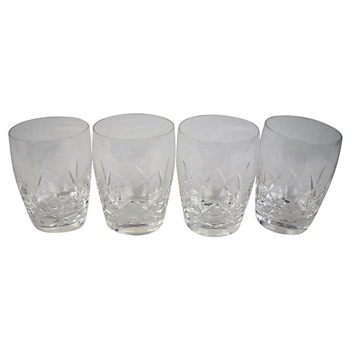 Stuart Cut-Crystal Whiskey Glasses, S/4