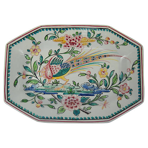 Portuguese Hand-Painted Bird Plate