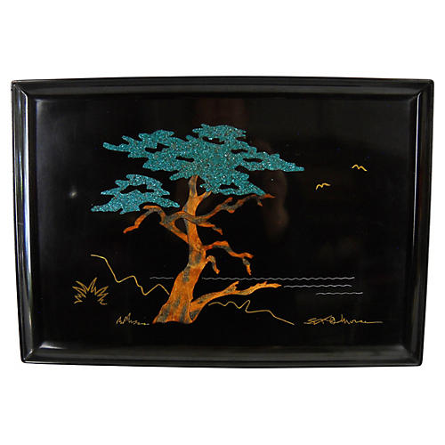 Couroc of Monterey Cypress Tree Tray
