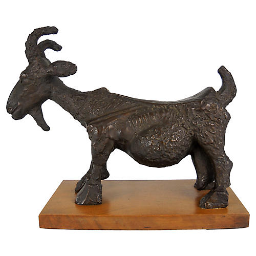 1960s She-Goat Sculpture