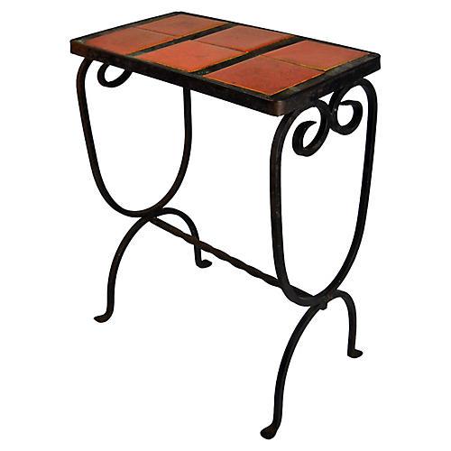 Vintage California Iron & Tile Table