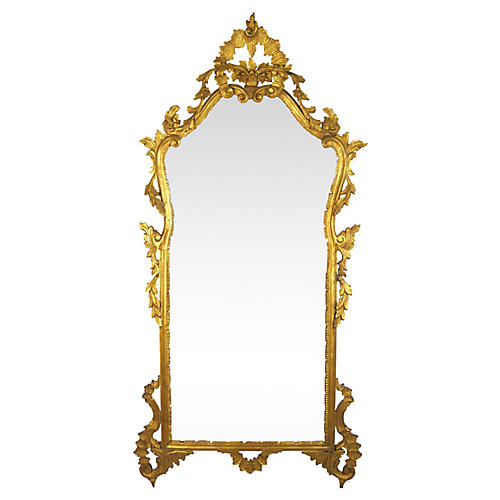 French Rococo-Style Giltwood Mirror