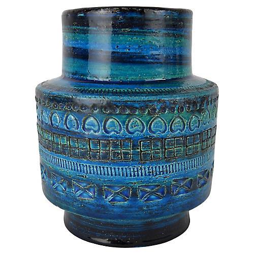 Rimini Blu Aldo Londi for Bittosi Vase