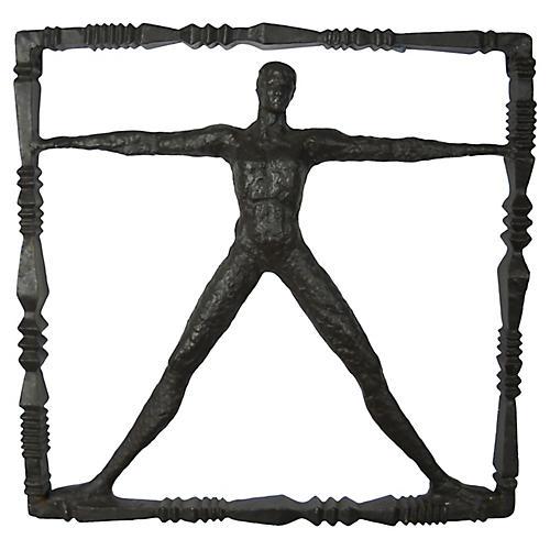Standing Man Iron Wall Sculpture