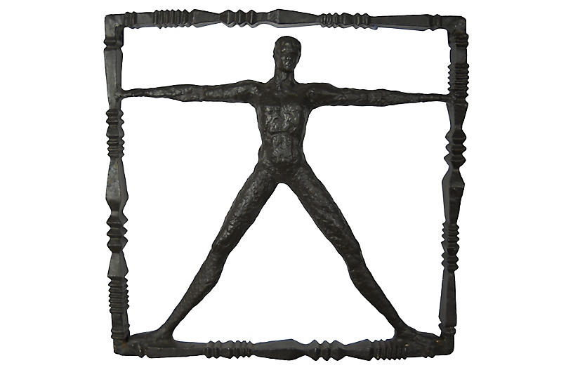 Standing Man Iron Wall Sculpture