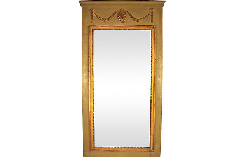 Louis XVI Period Painted Trumeau Mirror