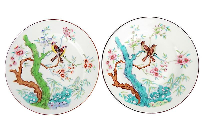 Antique Mintons Bird Plates, S/2