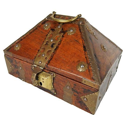 Antique Kerala Indian Jewelry Box