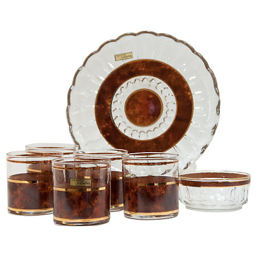 French Culver Bar Set, S/7