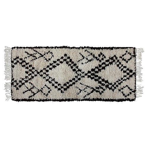Moroccan Beni Ourain Rug, 7' x 2'11''