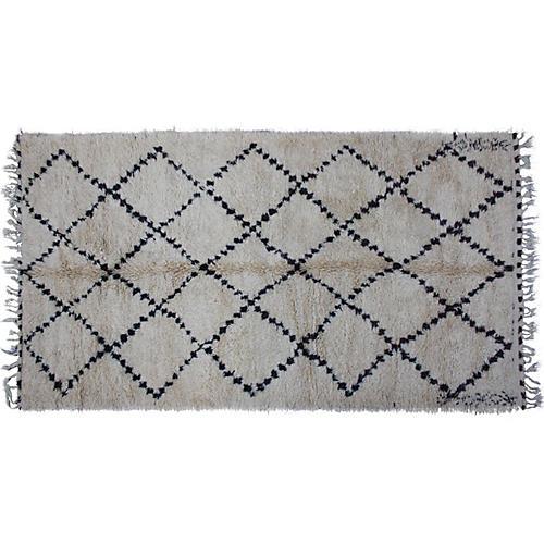 Moroccan Beni Ourain Rug, 11' x 6'1''
