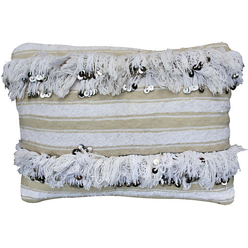 Moroccan Berber Wedding Sham w/ Sequins