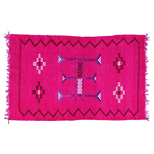 Moroccan Cactus Silk Rug, 3' x 1'10''