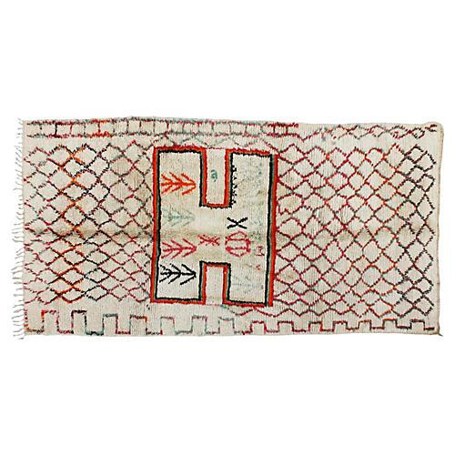 "Moroccan Rug, 5' x 9'4"""