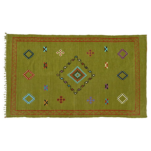 "Moroccan Cactus Silk Rug, 8'2"" x 4'8''"