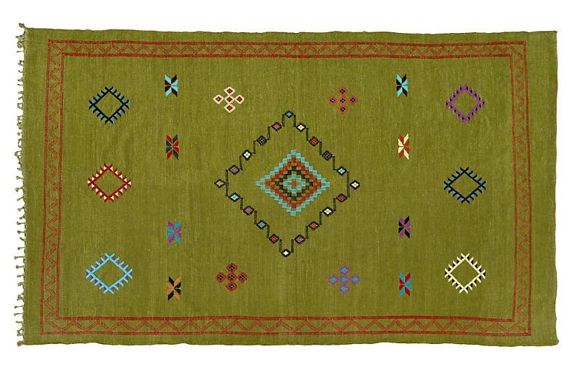 Moroccan Cactus Silk Rug, 8'2