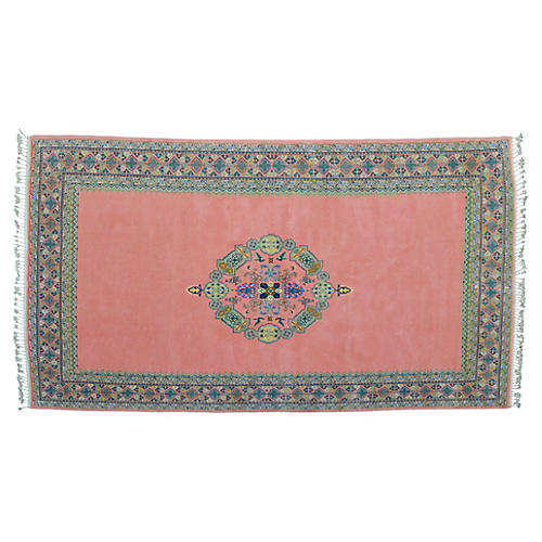 Moroccan Peach-Pink Rug, 10'5'' x 6'5''