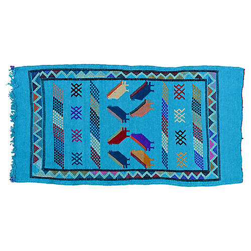 Moroccan Silk Rug, 3'3'' x 1'7''