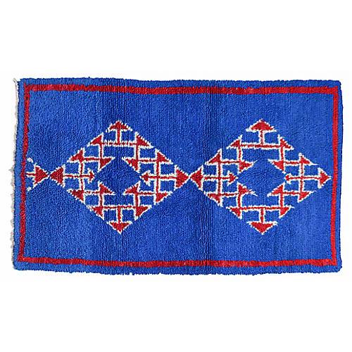 Moroccan Rug, 4' x 6'3''
