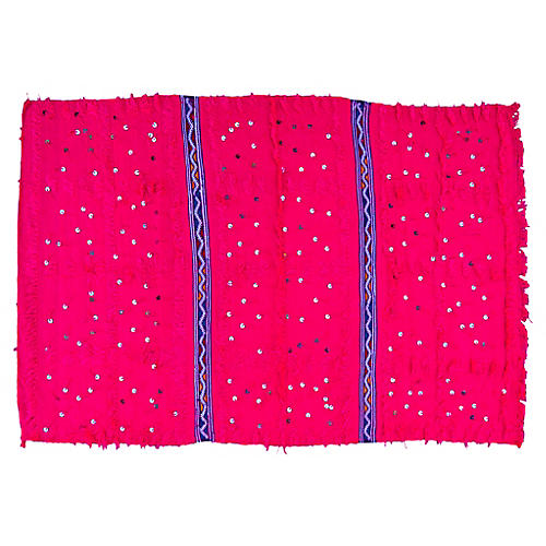 Pink & Blue Moroccan Berber Throw