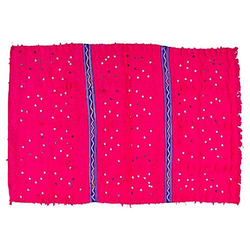 Pink & Blue Moroccan Berber Throw
