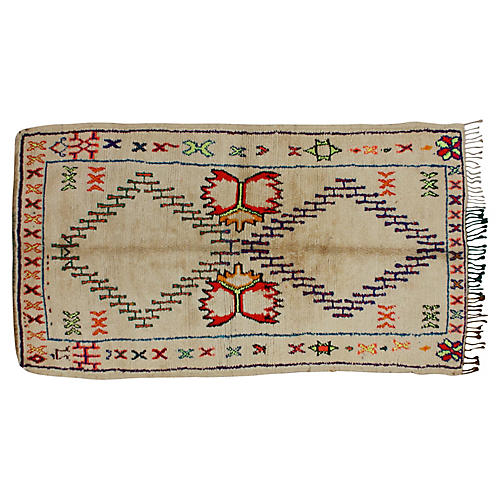 Moroccan Azilal Rug, 4'4'' x 8'