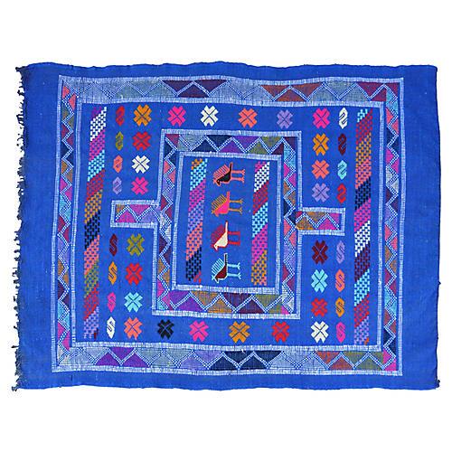 Blue Moroccan Rug, 3'2'' x 4'6''