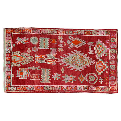 Moroccan Rug, 4'10'' x 8'4''